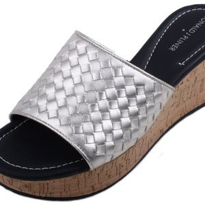 Donald J Pliner Safari 3 Woven Platform Wedges